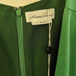 Lovers + Friends Dresses - Lovers + Friends Green Ivy Long Sleeve Mini Dress